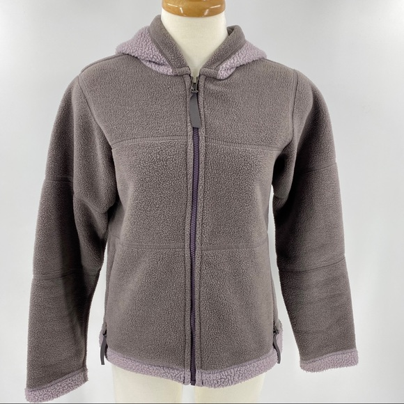 Patagonia synchilla zip up fleece jacket with hood